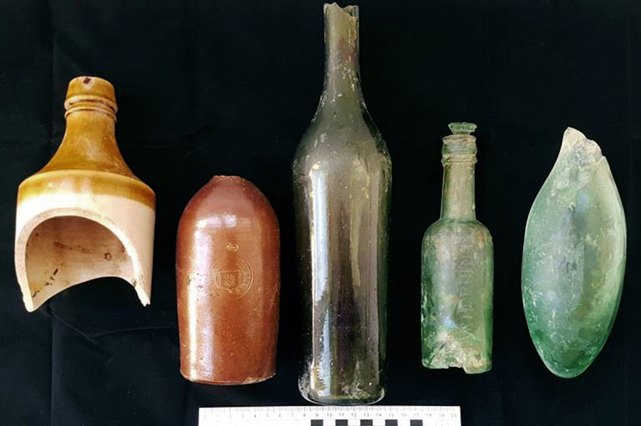DISCOVERED: Five 19th century vessels found behind the Chief Post Office building
