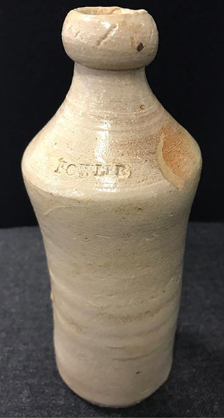 Fowler bottle discovered during excavation under CPO building
