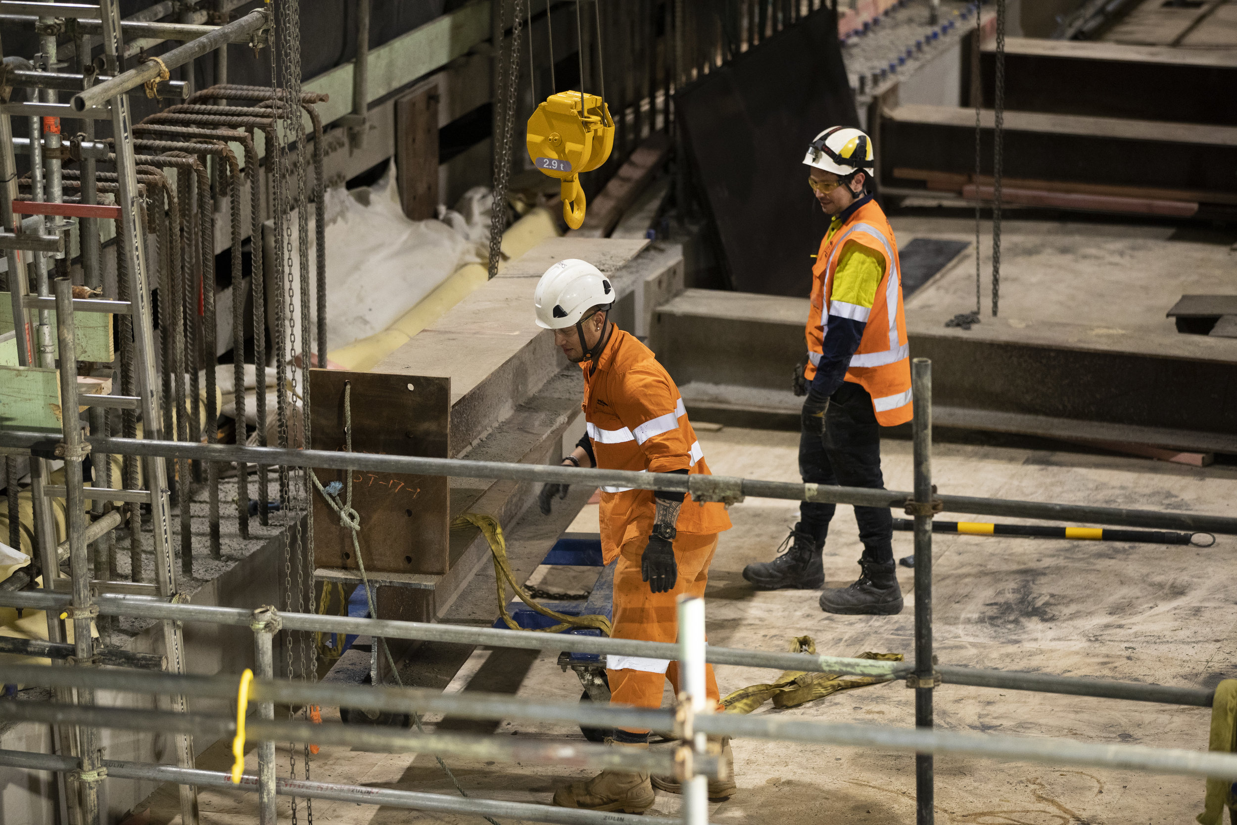 Workers in Lower Queen St