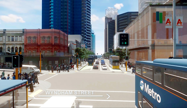 Albert Street/Wyndham Street intersection