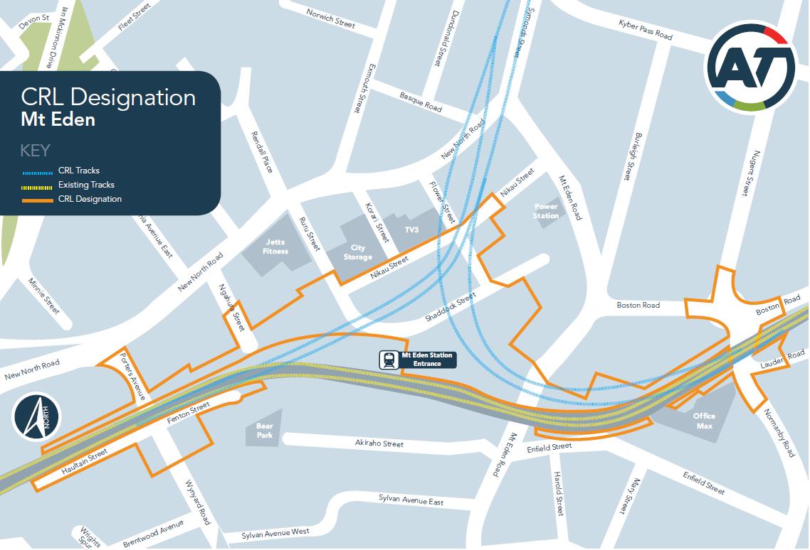 CRL Designation area map - Mt Eden