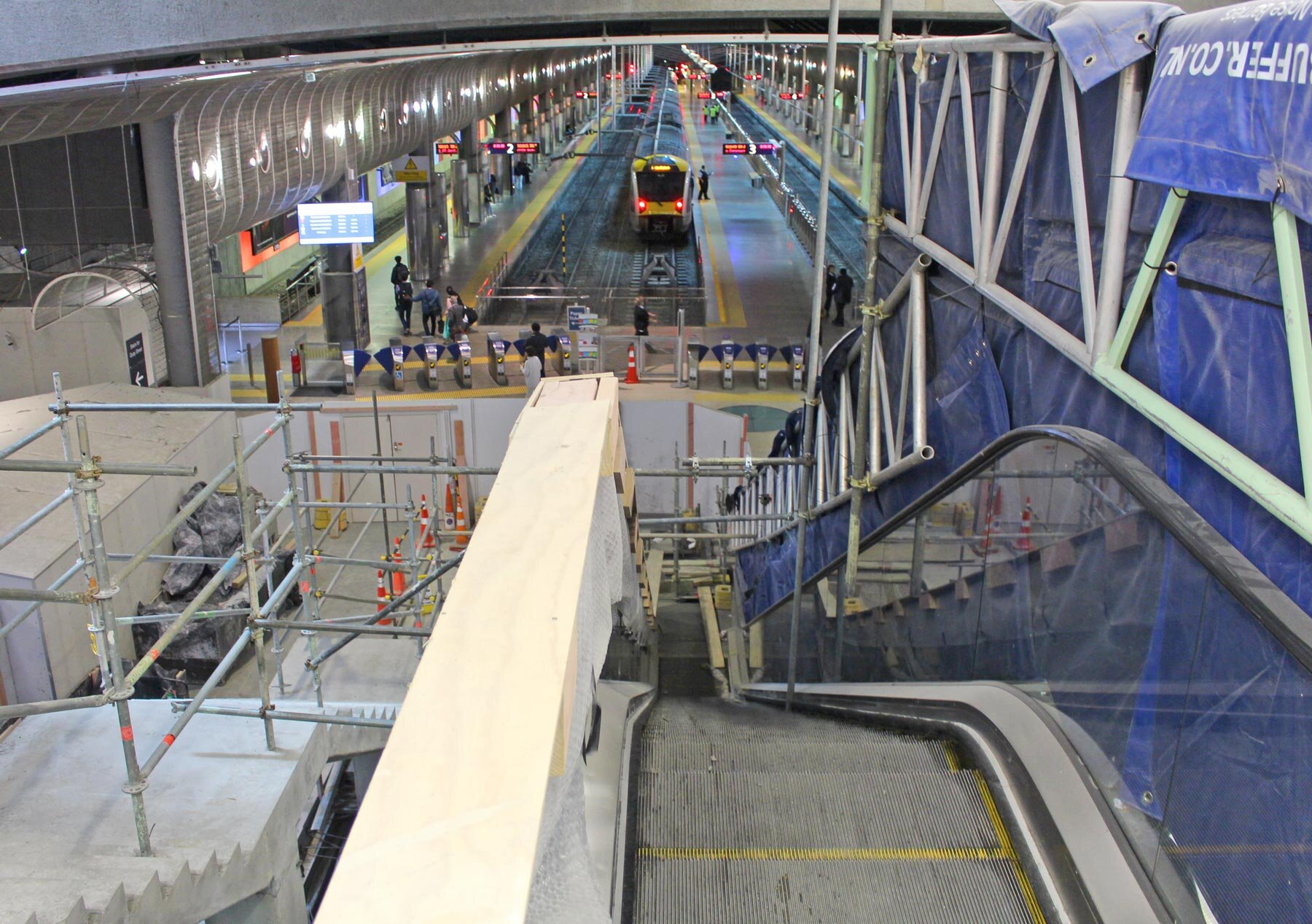 The new metro-grade escalators will replace the old ones