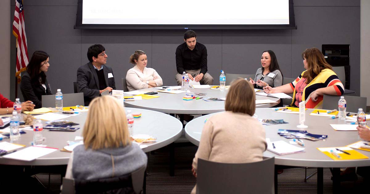 Houston Chronicle reporter Brian M. Rosenthal leads a discussion on special education at a March 2 parent and teacher roundtable forum hosted by The Texas Tribune.SPIKE JOHNSON FOR THE TEXAS TRIBUNE