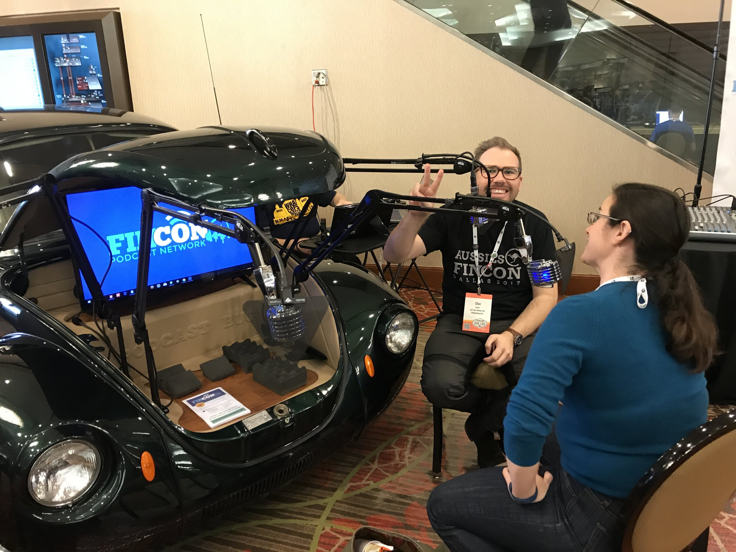 THE BEETLE - We got to record episode 4, live on the conference expo floor out of the hood of a Beetle. It actually drives, too!