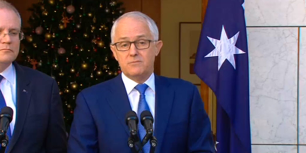 Malcolm Turnbull and Scott Morrison announced the Royal Commission into Misconduct in the Banking, Superannuation and Financial Services Industry on 29 November 2017.