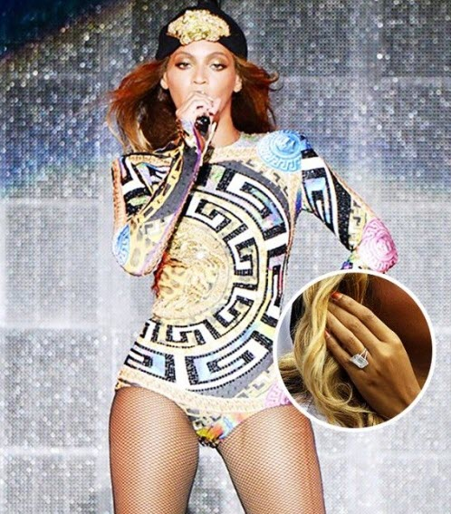 Queen B's ring is said to be worth around US$5m