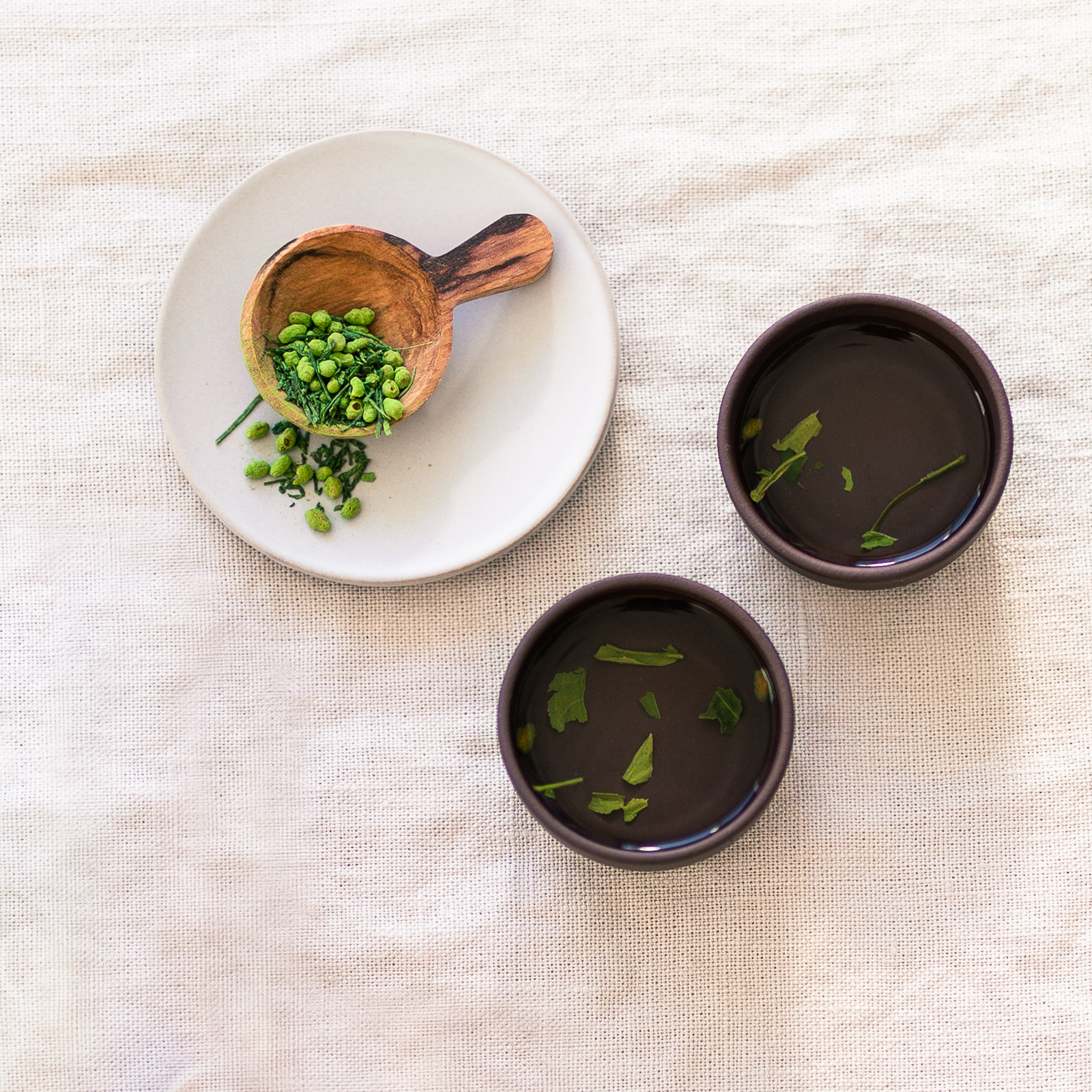 Japanese genmaicha (green tea with toasted brown rice and matcha).
