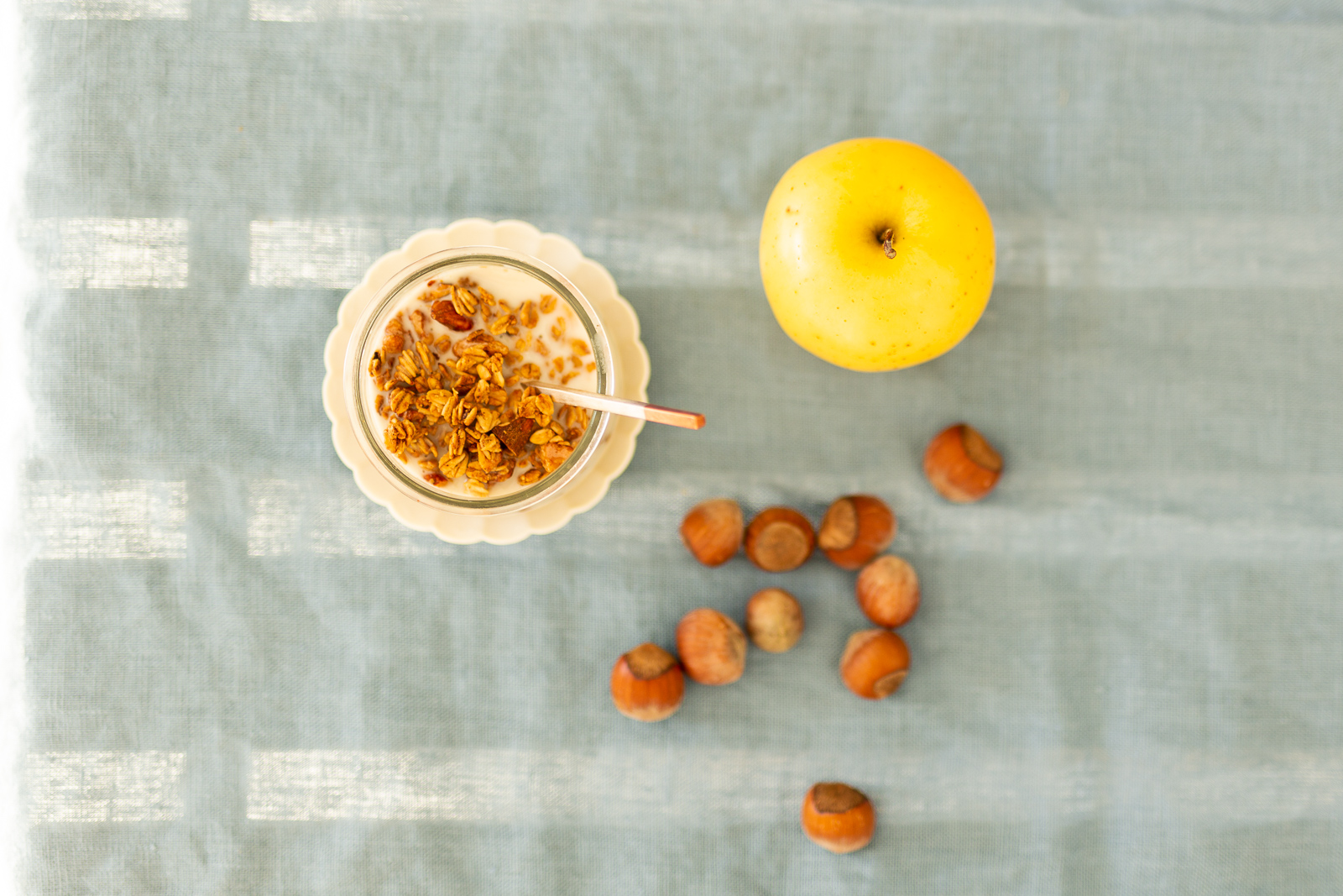Maple, Lemon, and Ginger Granola, the perfect snack with a healthy weekday lunch.