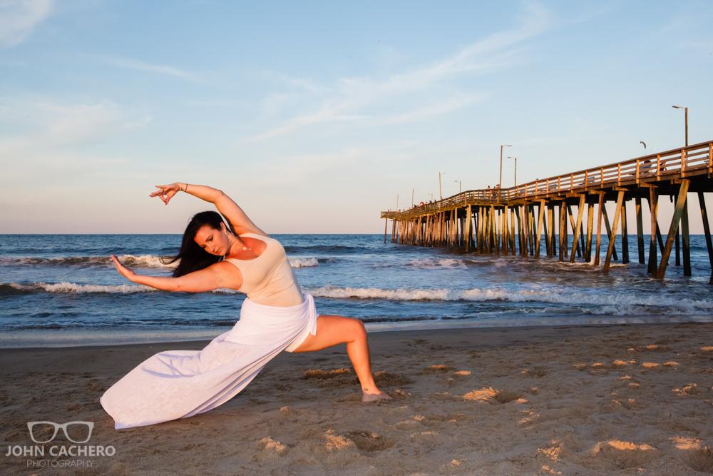 Virginia Beach Beachbody Fitness Portrait Photograph by John Cachero Photography