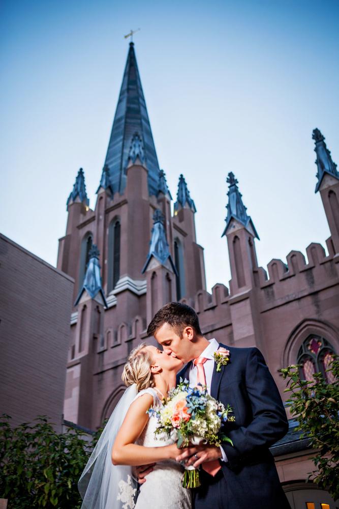 Freemason Street Baptist Church Wedding Photograph - Norfolk Virginia - Rachel And Darren - by John Cachero for Ross Costanza Photography