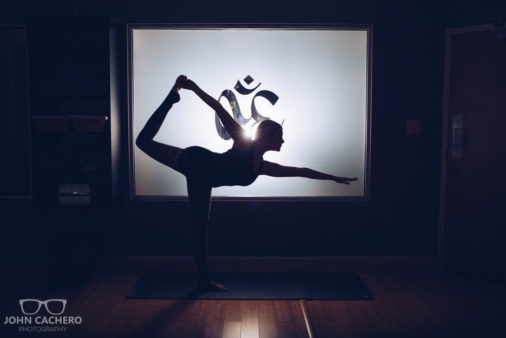 Virginia Beach Commercial Photograph - Hot Yoga Studio - Yoga Dancer Pose