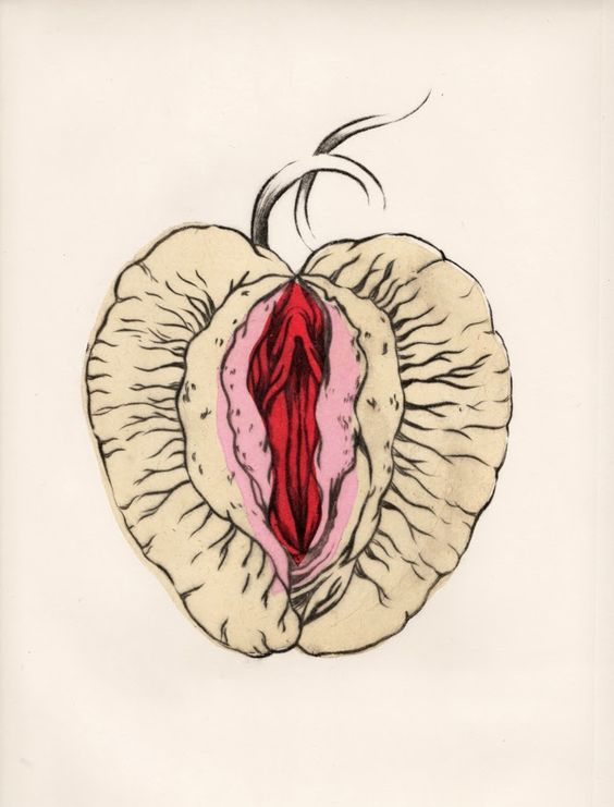 yoni peach art