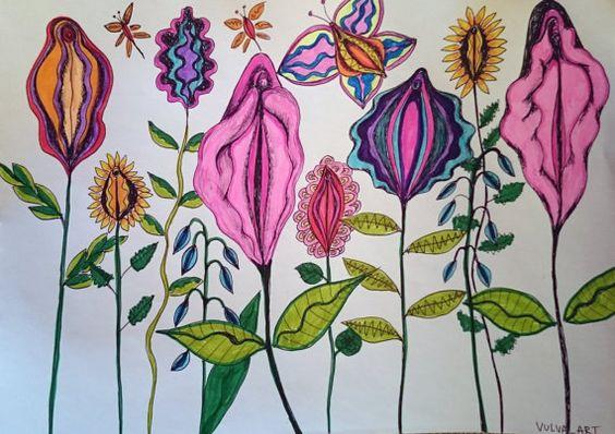 vulva garden yoni art