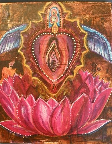 sanskrit yoni art lotus womb