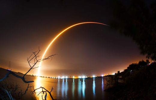 SpaceX's Falcon 9 is seen launching from Cape Canaveral Air Force Station on Thursday, Feb. 21, 2019 -  SOURCE
