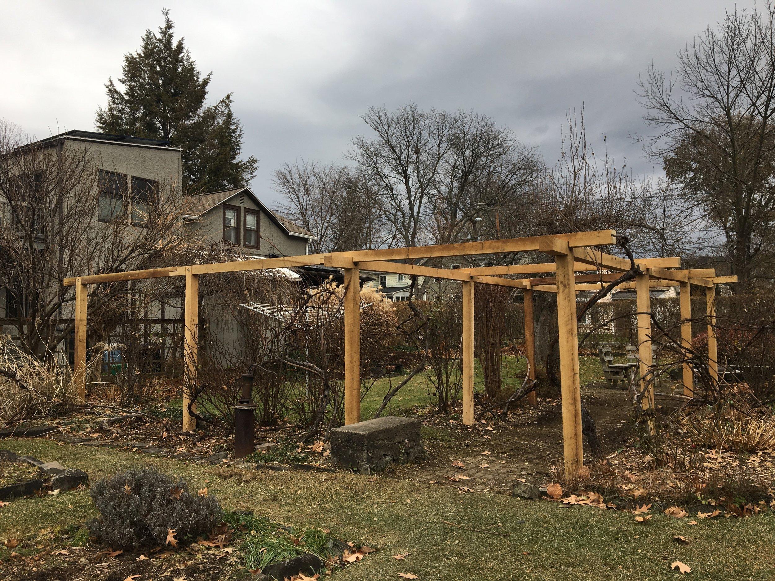 Black Locust arbor, Ithaca 2018 $2375