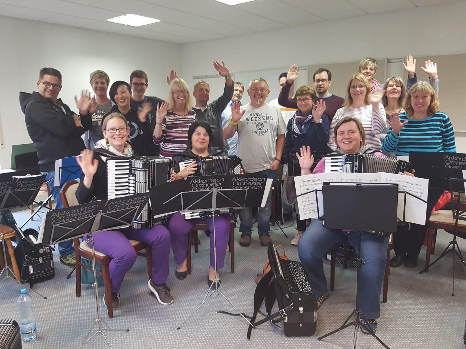 Übungswochenende des ersten Orchesters in Gttersbach