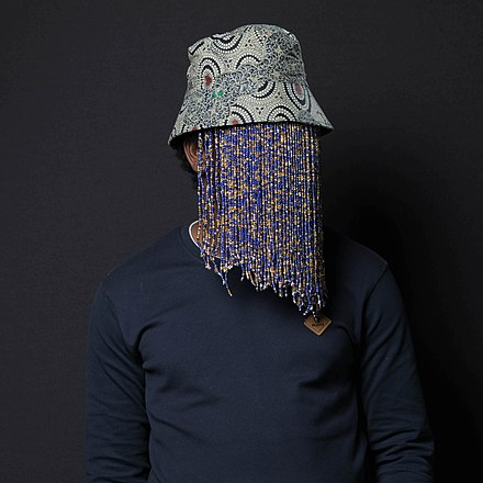 Anas Aremeyaw Anas, the publisher of Tiger Eye Private Investigations, in his typical mask, which he says is necessary to protect his identity and his safety.