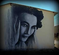 Mural in the South African township of Soweto depicting the anti-apartheid activist and journalist Ruth First.