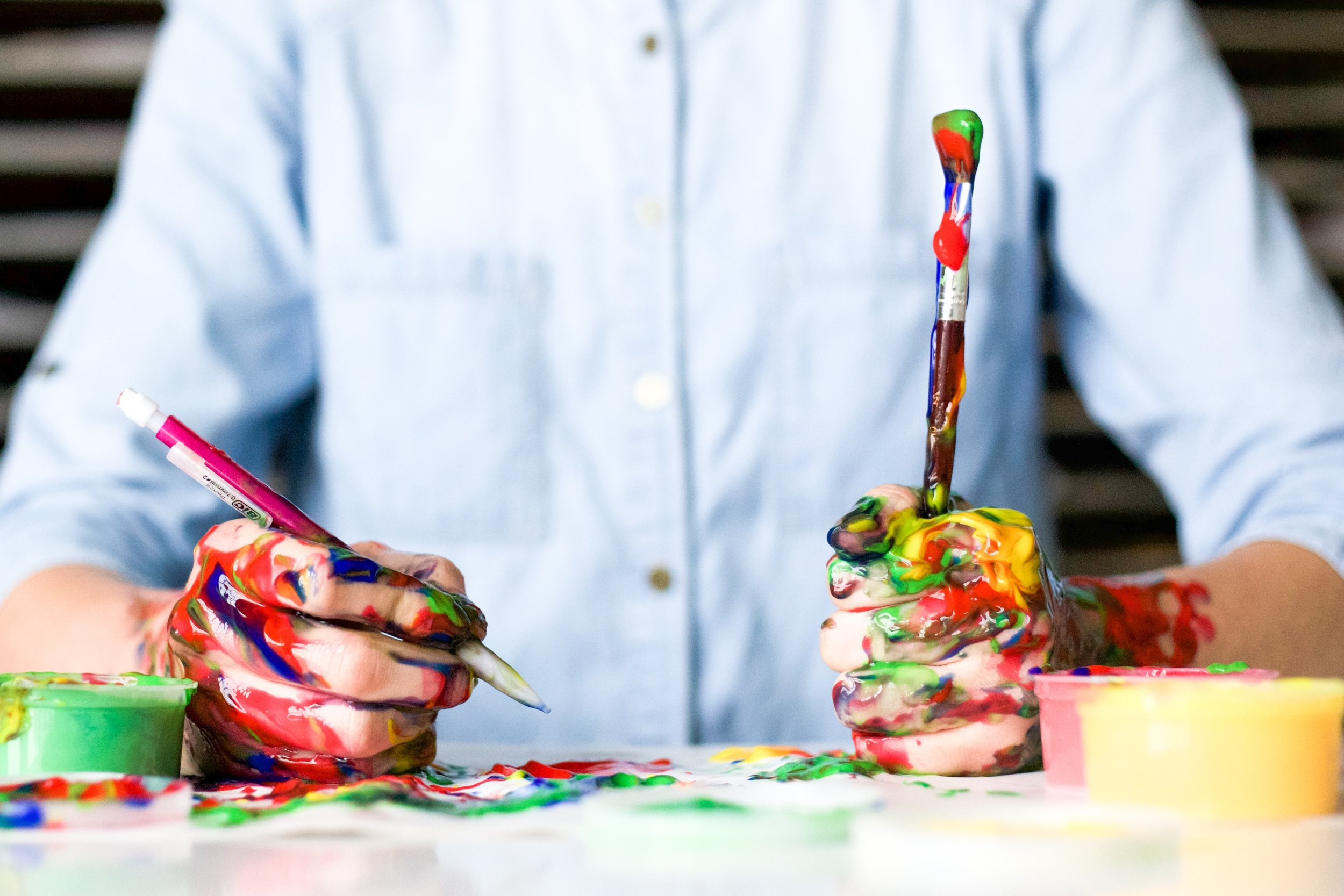 Even if we feel more productive, we can't get any  good work done with messy minds (hands).