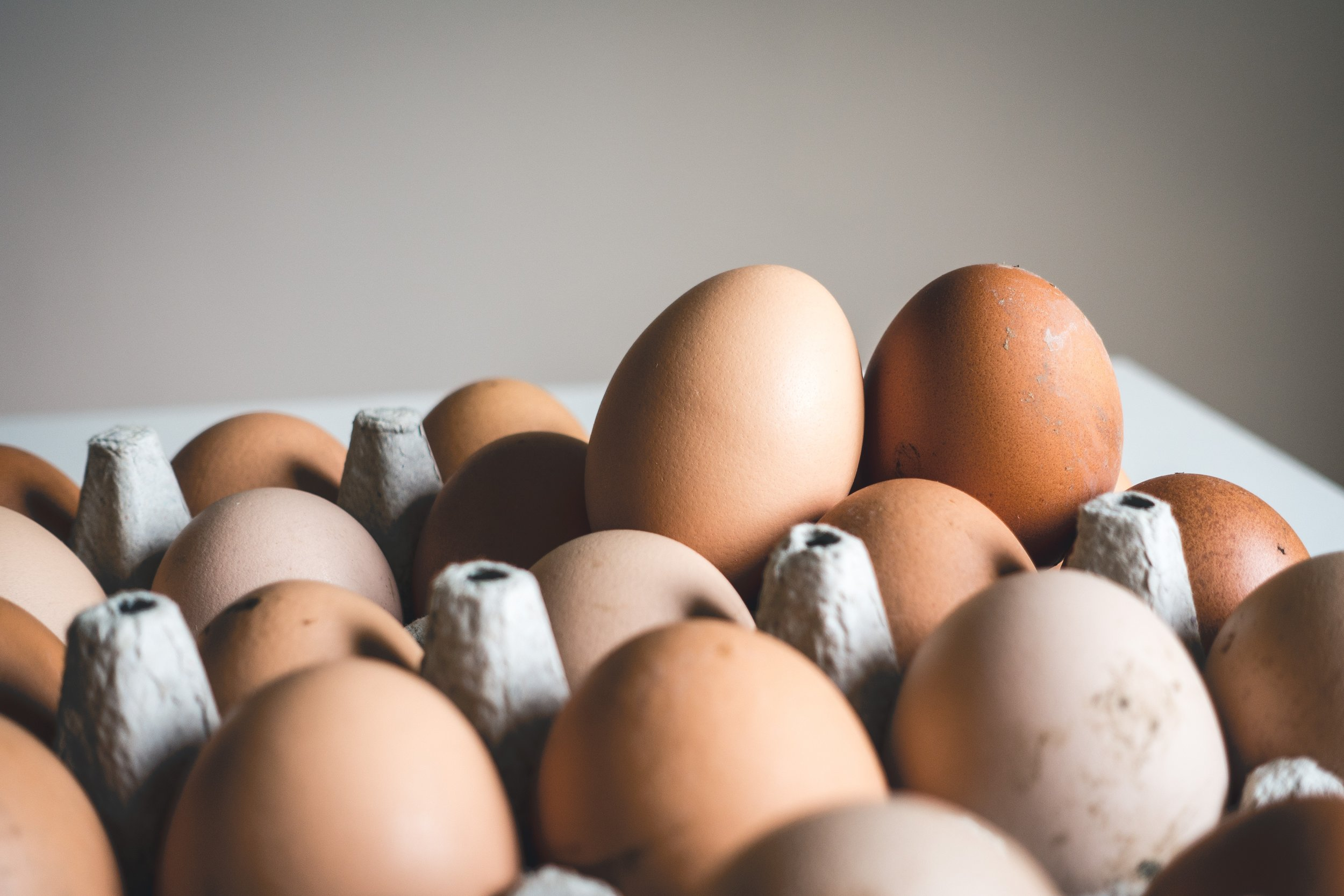 Eggs: I have three every day.