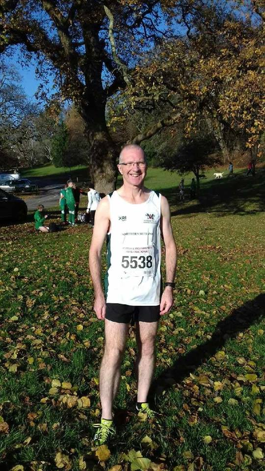 Springwell RC's Bryan Edgar representing N.I. at the British & Irish Masters XC