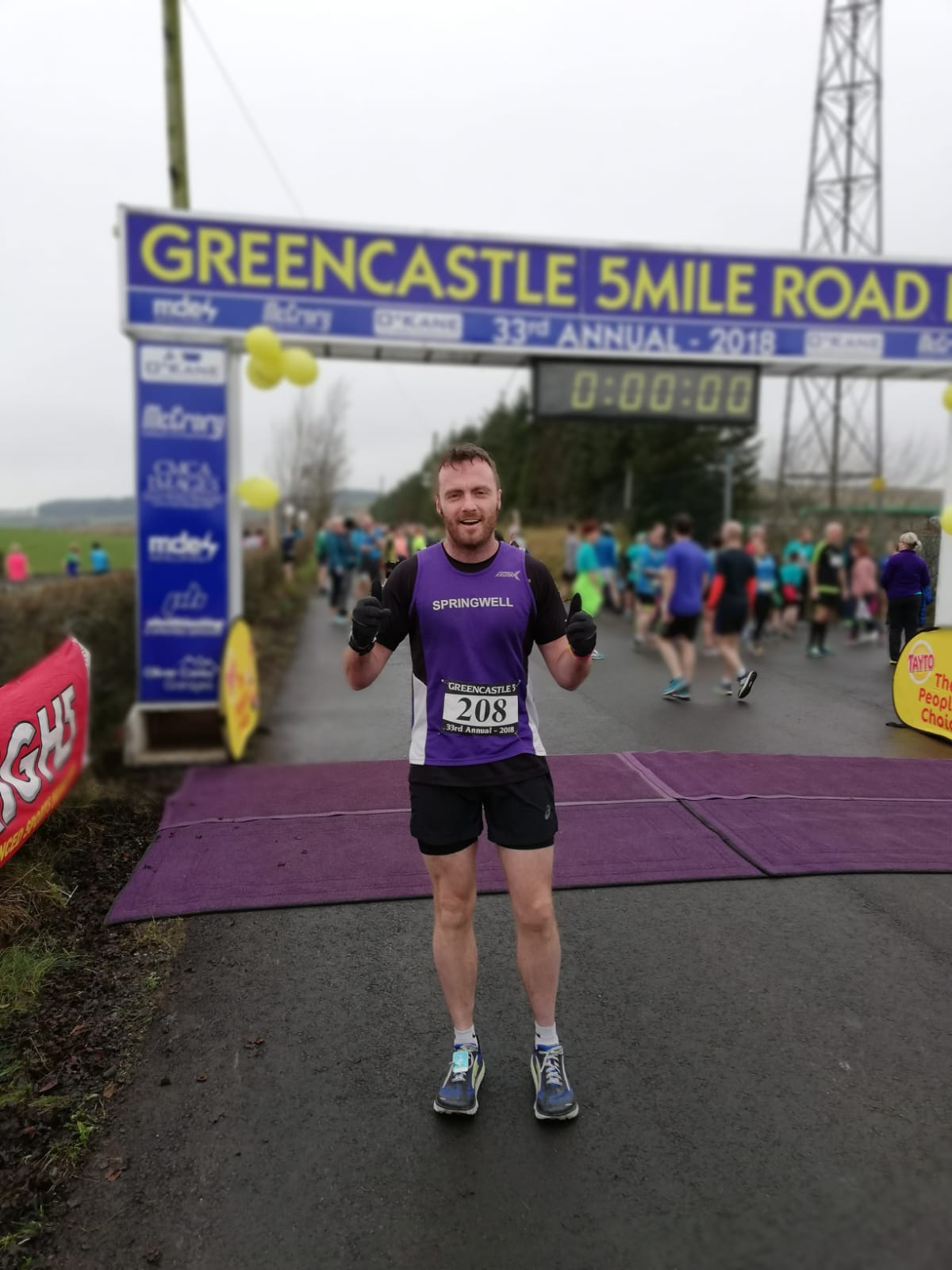 Alistair Shaw at the Greencastle 5 Mile Road Race