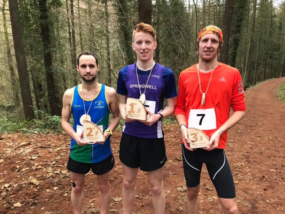 Lee O'Boyle (Mallusk RC), Luke Dinsmore (Springwell RC) and Colin Dean (unattached) (Photo Northern Velocity)