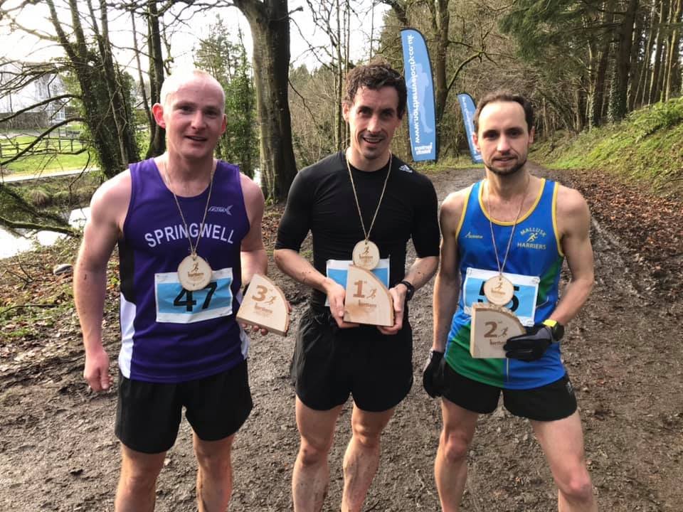 Christopher McNickle, Seamus Bradley and Lee O'Boyle at the Northern Velocity Garvagh 10k (photo Northern Velocity)