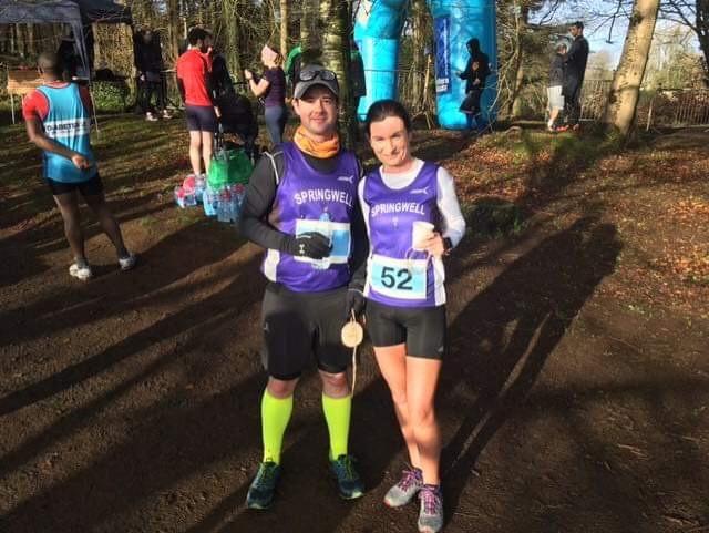 David Campbell and Pauline Mullan at the Northern Velocity Garvagh 10k