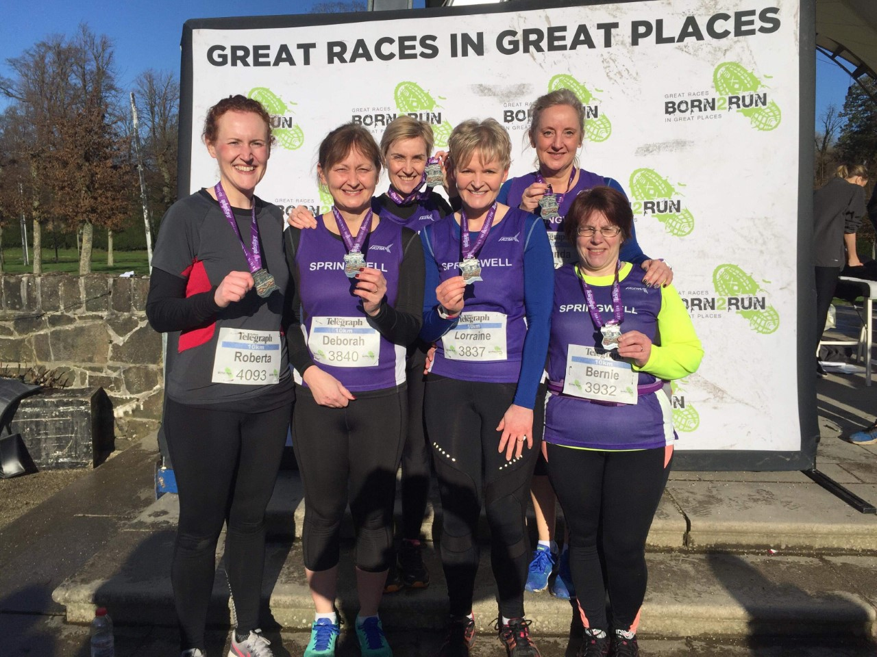 Roberta McKenzie, Deborah Archibald, Nicola Stewart, Lorraine Abernethy, Amanda Scott and Bernie Drain.