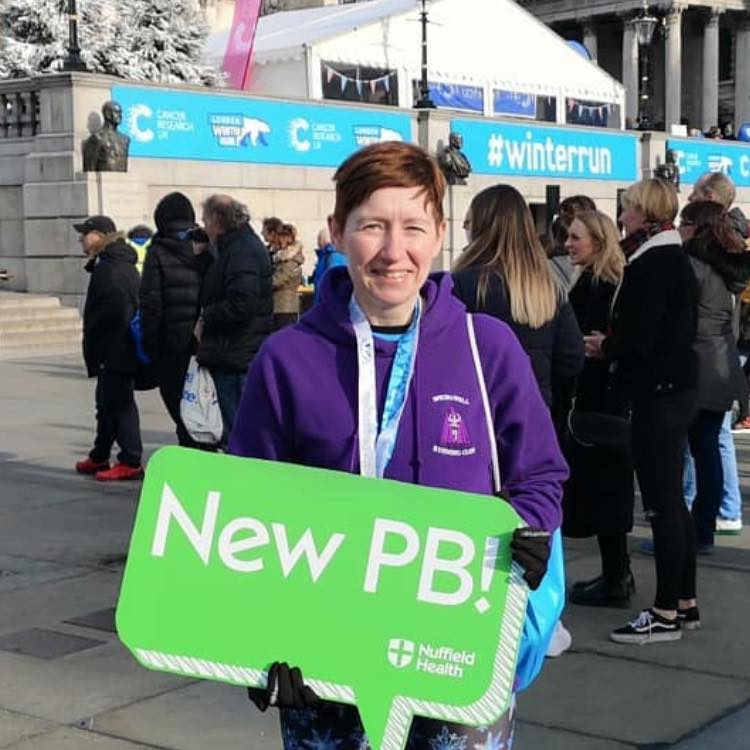 Roisin Walker at the Cancer Research UK Winter Run