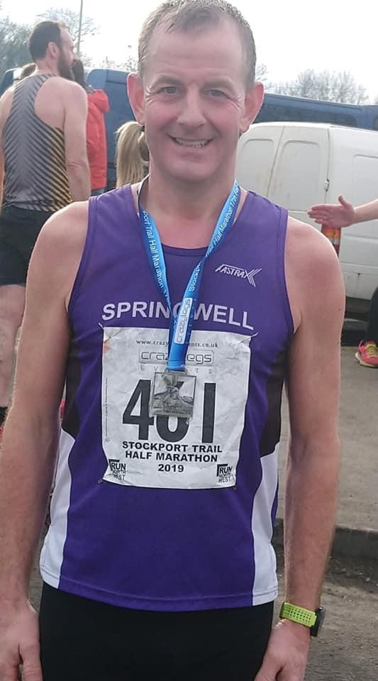 Maurice Walker at the Stockport Trail Half Marathon
