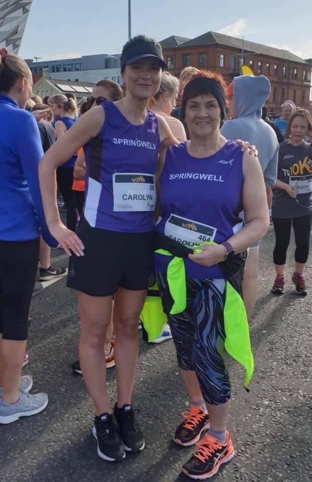 Carolyn Crawford & Caroline Owen at the TQ10K