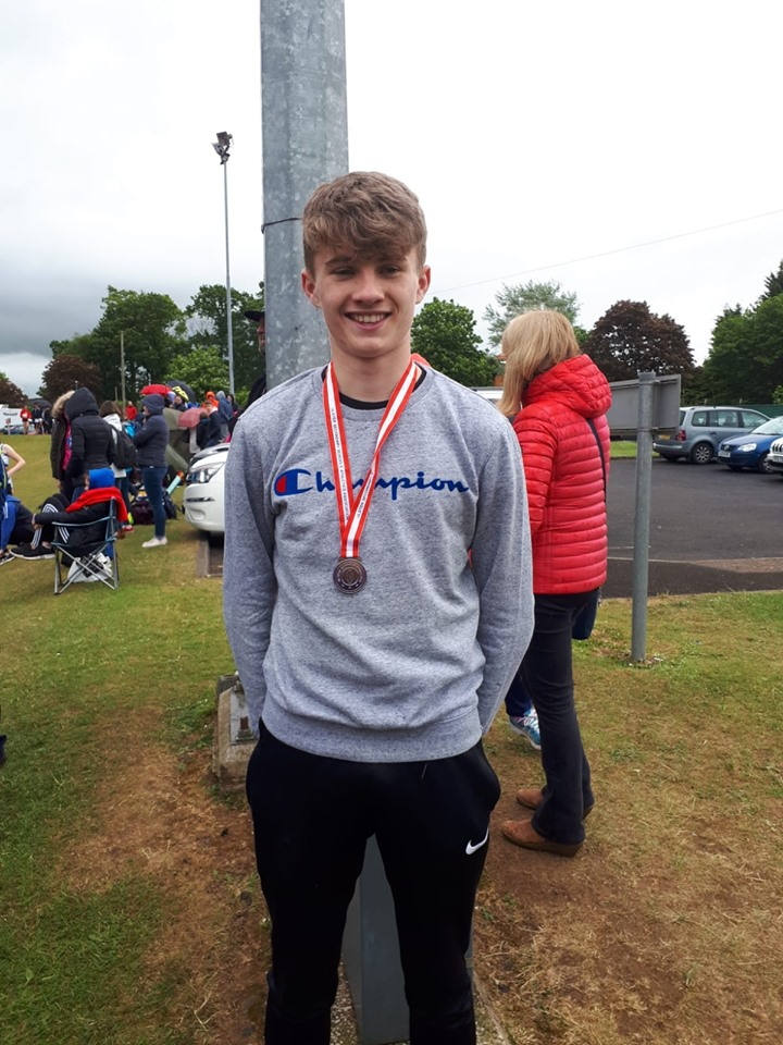 Jack Culbertson at the Ulster Schools T&F