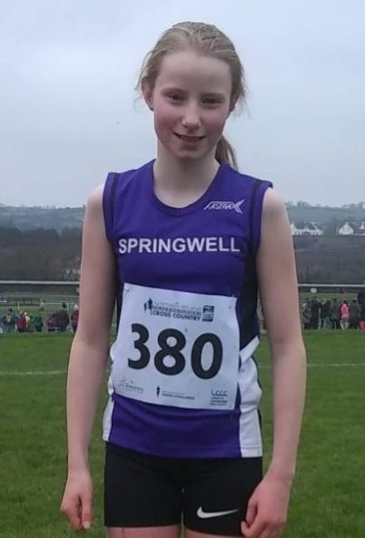Mairi Clements at the Ulster Schools T&F