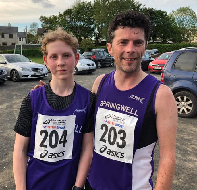 Roan Wilson and Colin Loughery at the Fureys Insurance 5k in Buncrana