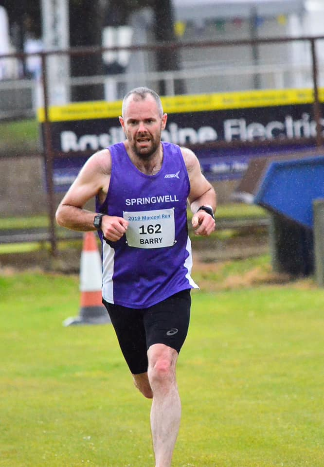 Barry Mullan at the Marconi Run (photo A G Photography)