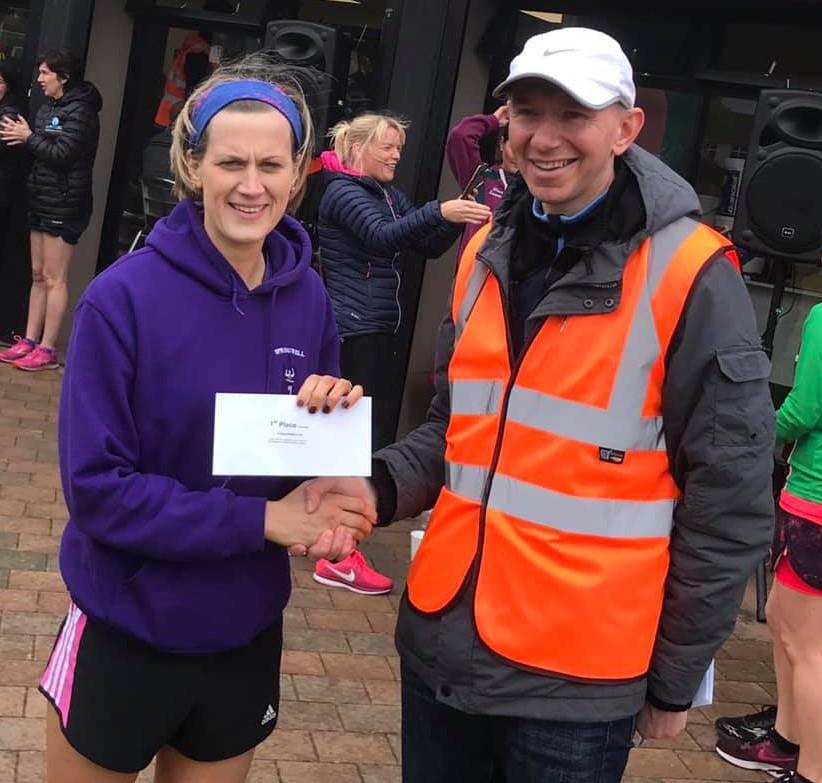 Caroline Irwin – winner of the ladies race at the Marconi Run