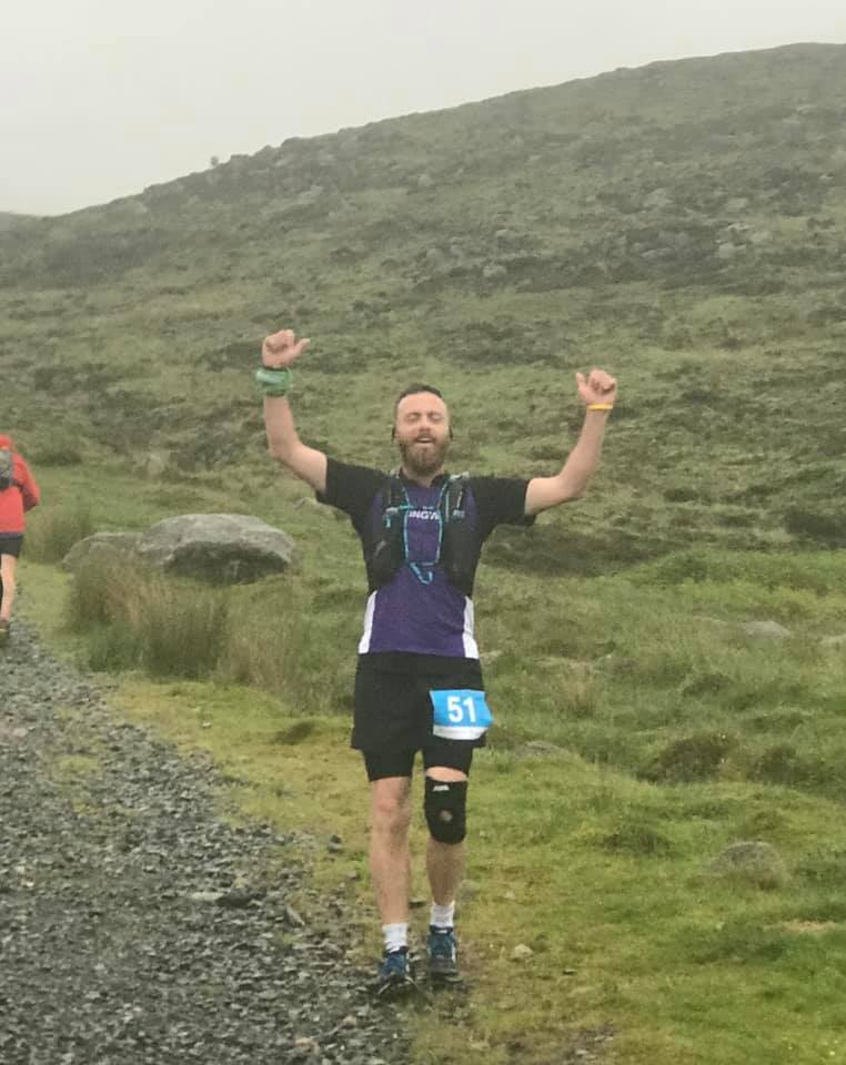Alistair Shaw at the Mourne Way Marathon