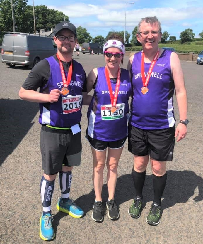 David Campbell, Maria Quinn and Andrew Wilmot at the Great Rossa Run