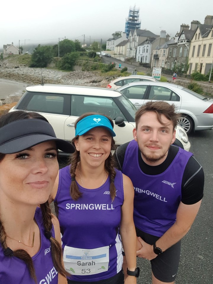Carolyn Crawford, Sarah Dickinson and Conor Duffy at the Sea 2 Sky