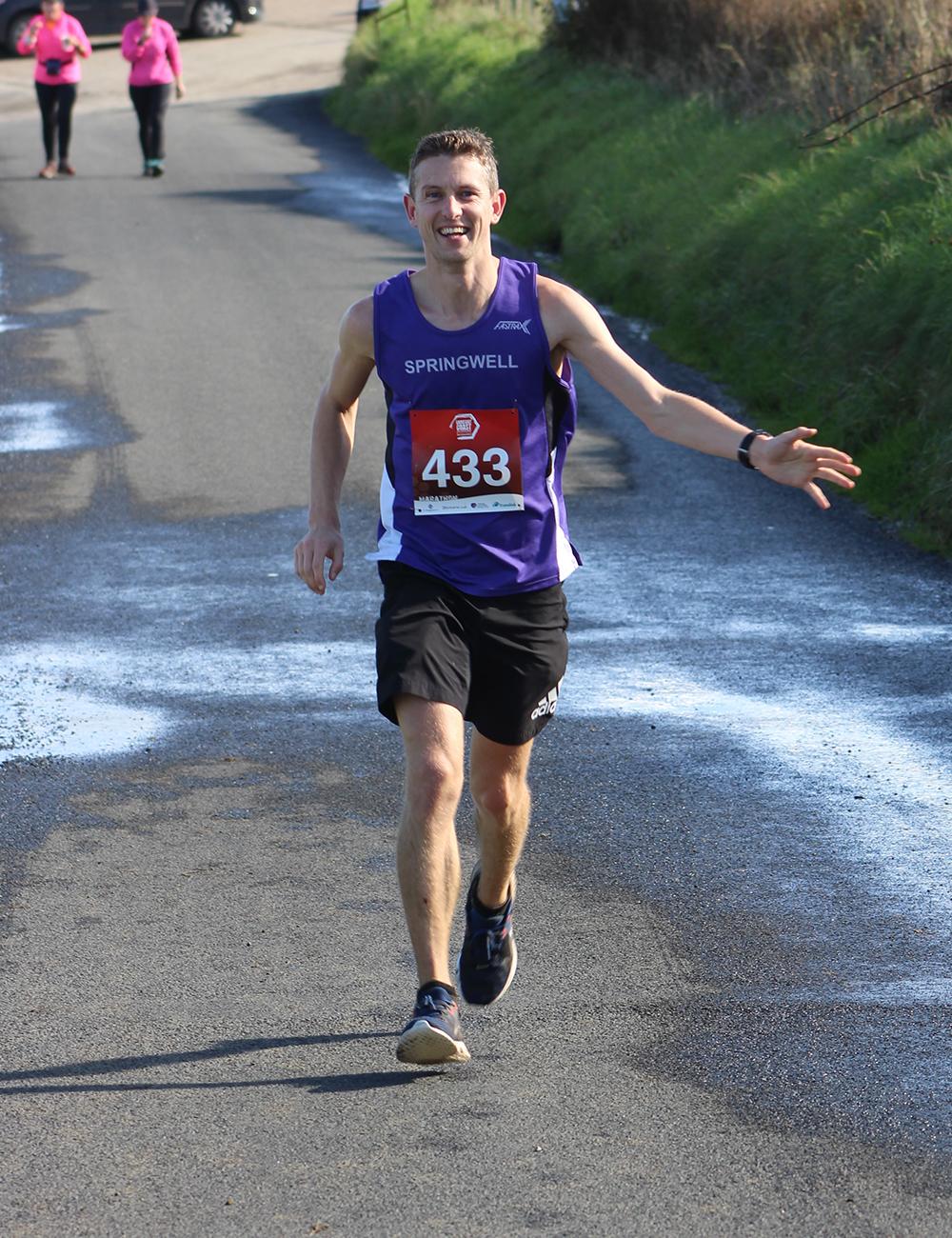 Jason Scott at the Causeway Coast Marathon