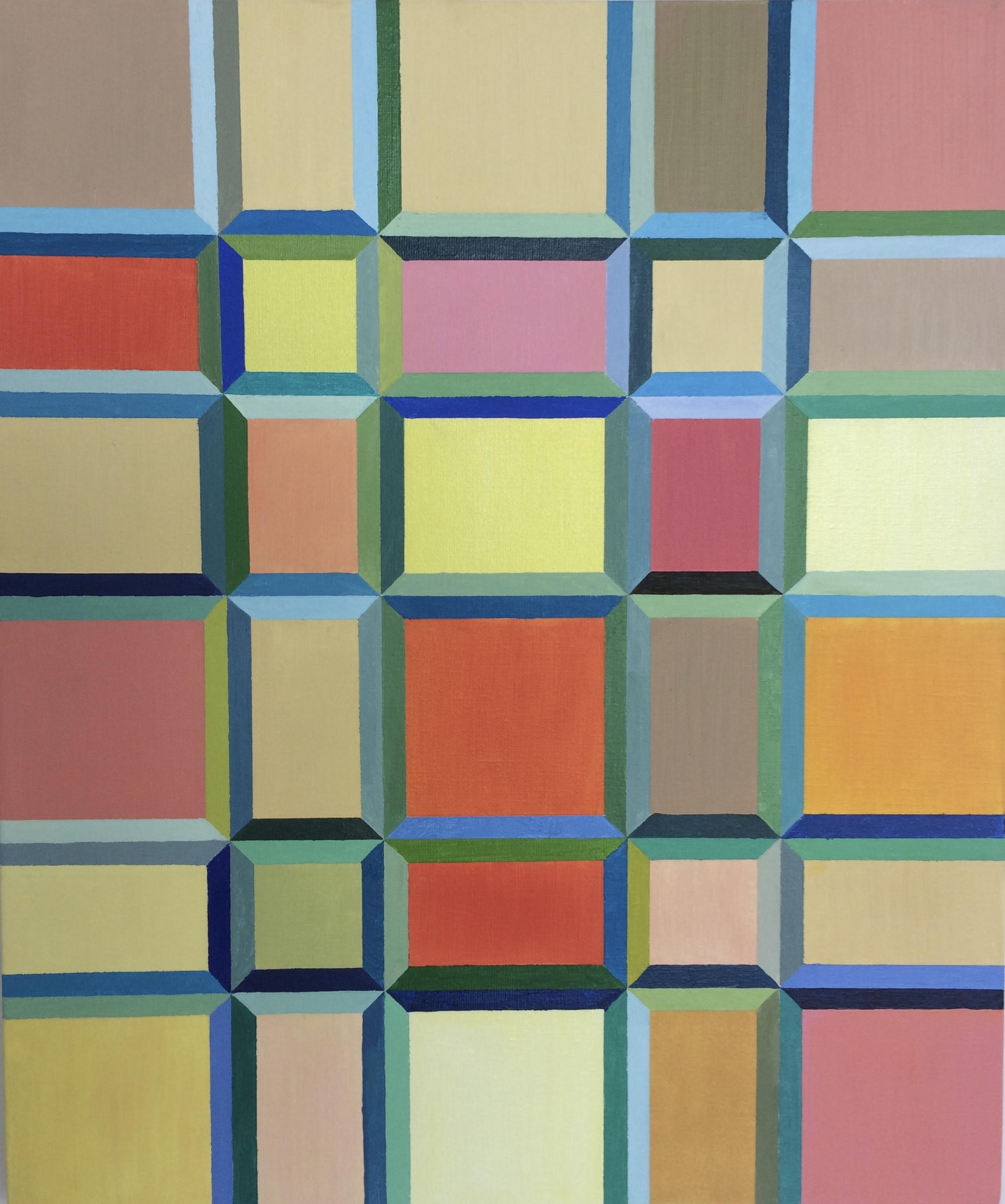 Block-us 2 - 2007 - 25x21 Oil on Canvas
