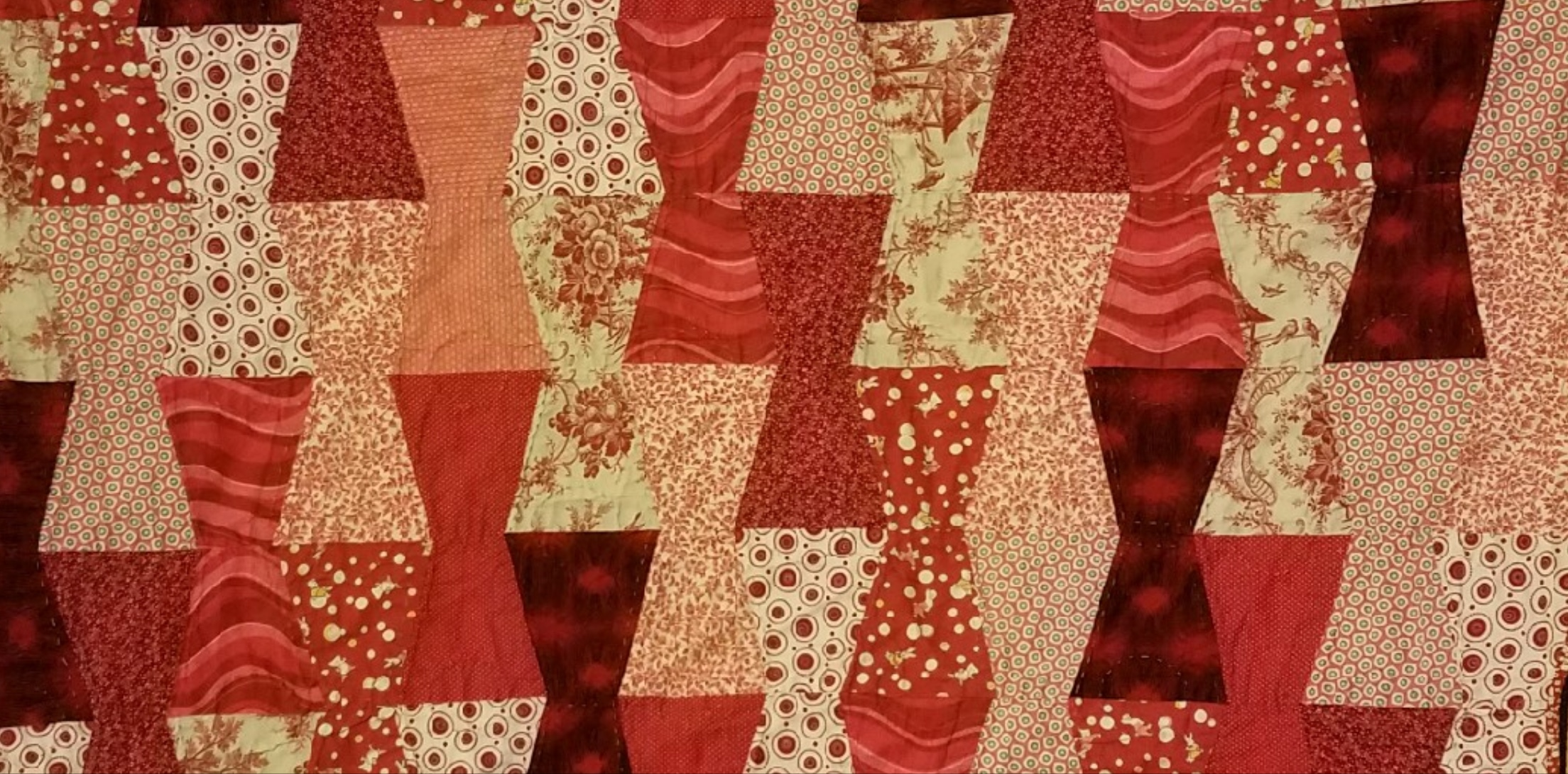 Quilt for PZ, Detail, Hand pieced and hand quilted, 2010