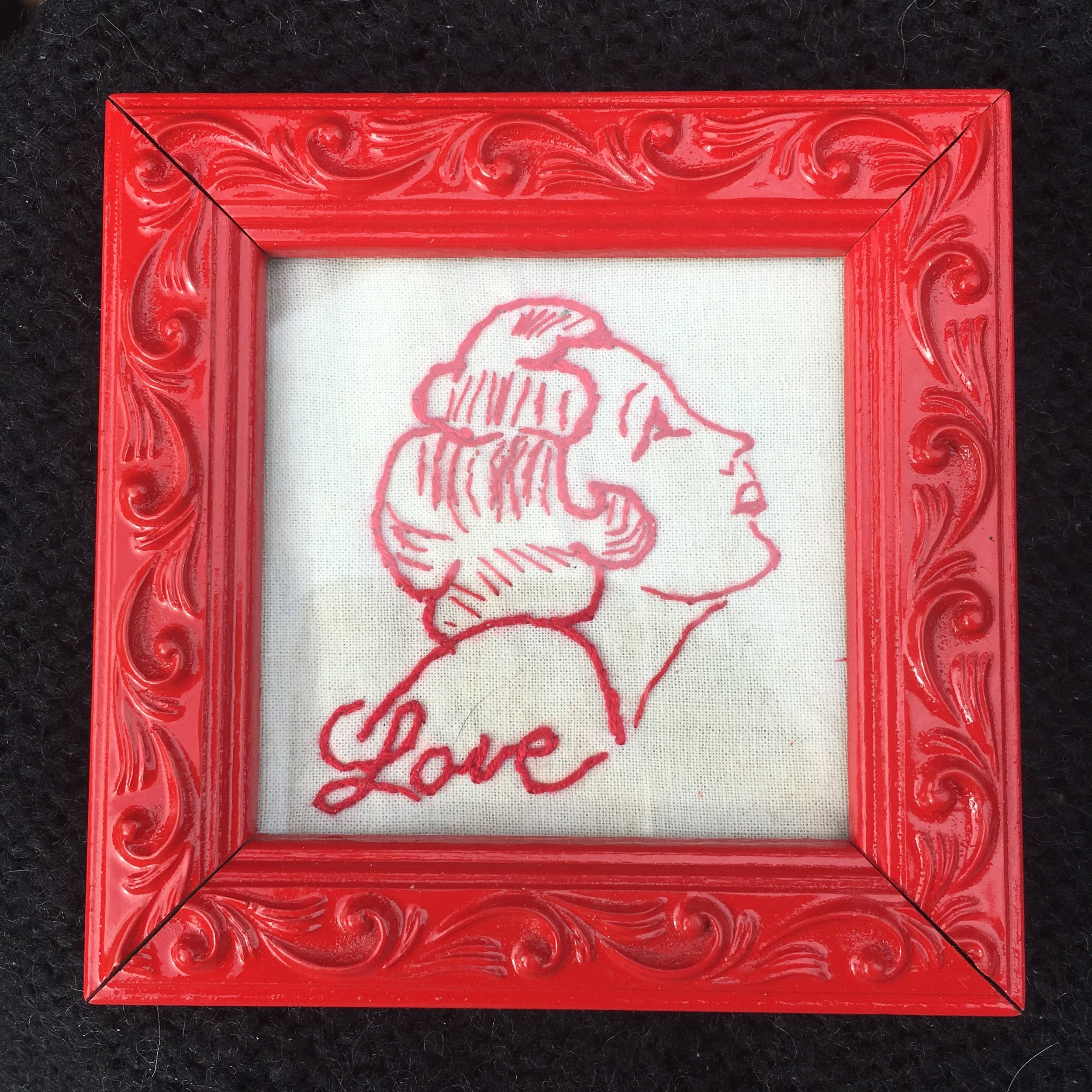 "Love, 2018 4"" x 4"" Private Collection"