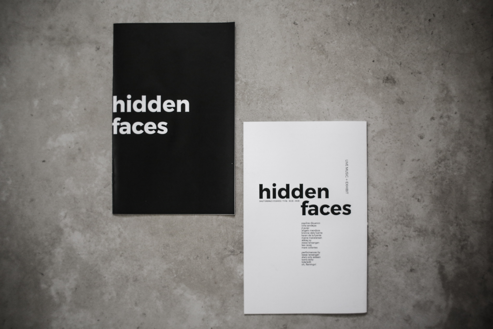 Hidden Faces Booklet