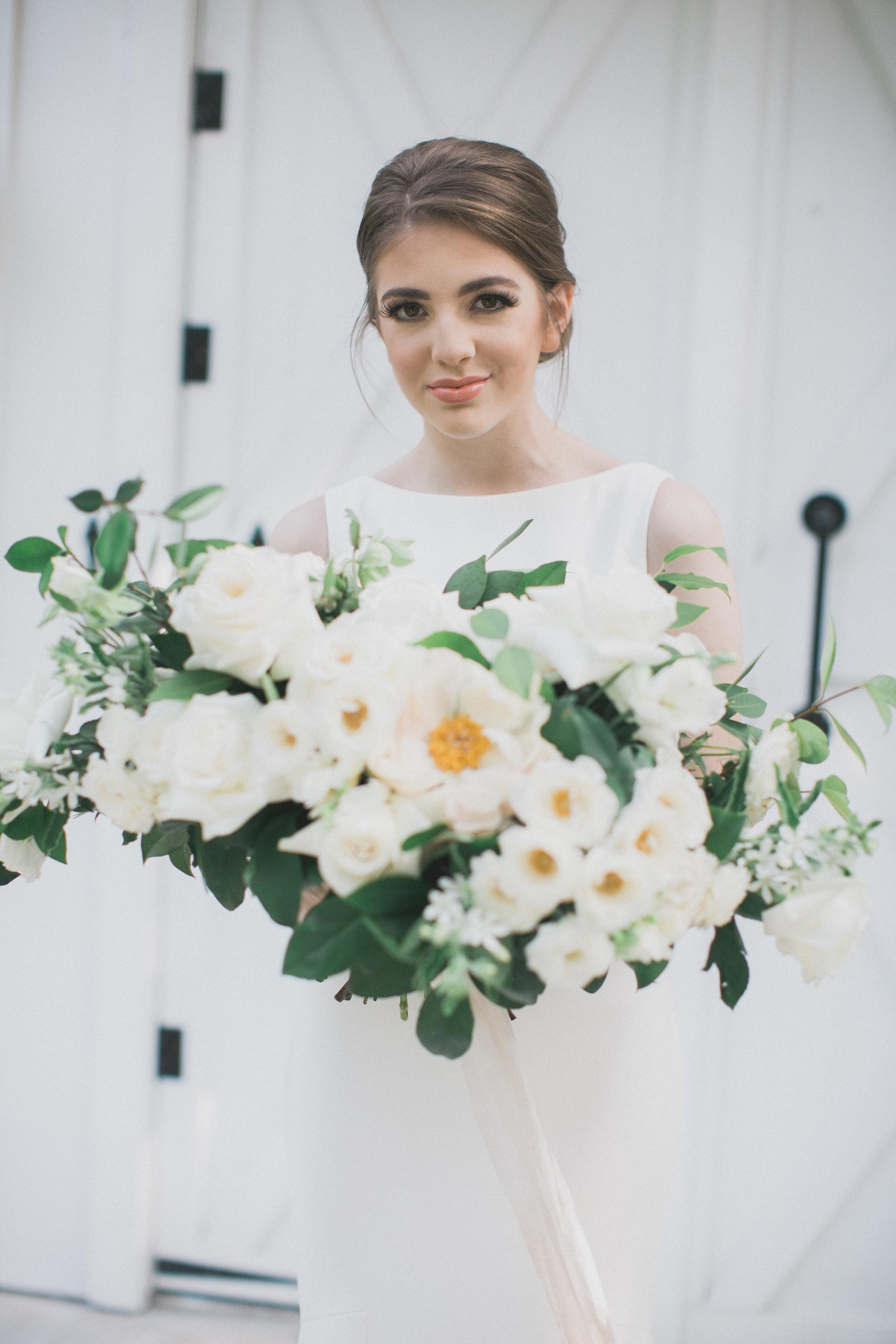 Bridal Hair and Makeup Inspiration | Southern Summer White Barn Wedding in Dallas, TX