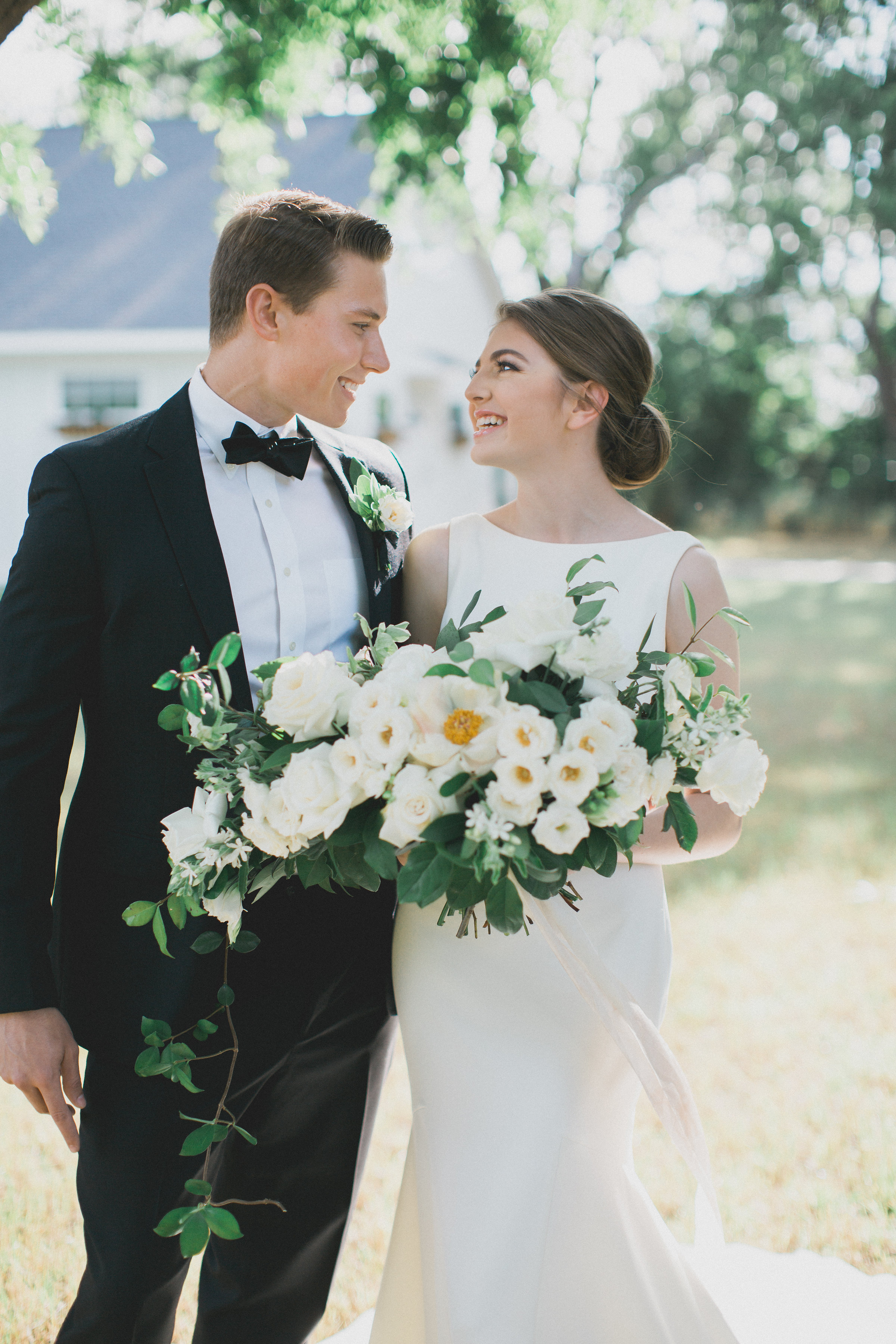 Bride and Groom Portraits | Southern Summer White Barn Wedding in Dallas, TX
