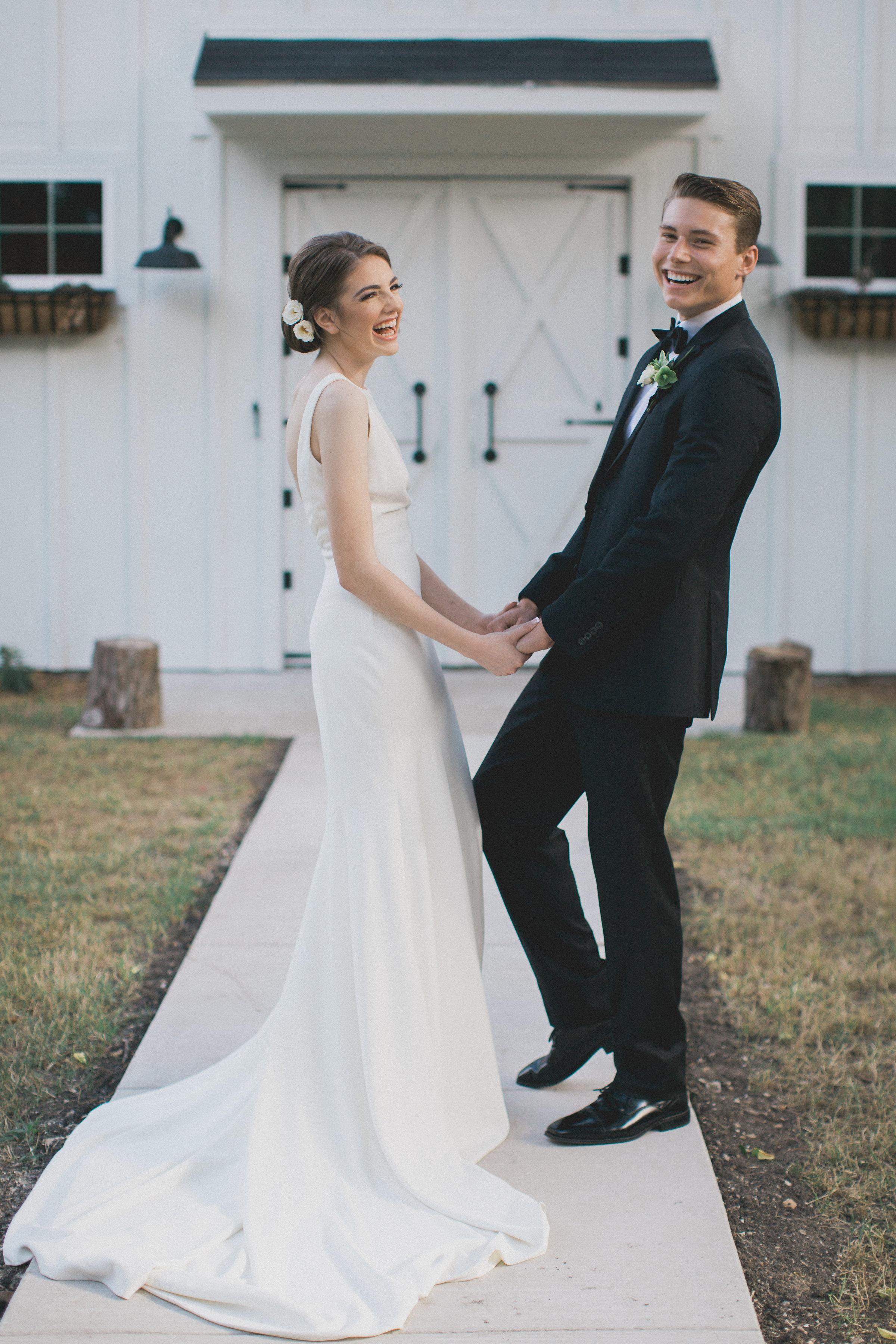 Outdoor Summer Wedding | Southern Summer White Barn Wedding in Dallas, TX